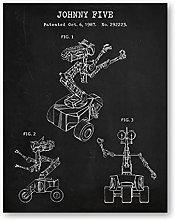 YQQICC Robot Patent Posters Print Wall Art Canvas