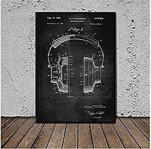 YQQICC Vintage Music Instrument Poster Print Wall