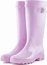 YQQMC Women's Fashion Tall Tube Rain Boots
