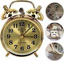 Yqs Alarm clock Gold Mechanical Alarm Clock Manual