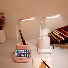 Yqs Desk Lamp LED Desk Lamp USB Rechargeable Touch