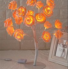 Yqs Desk Lamp Rose Shaped Table Lamp Flower Rose