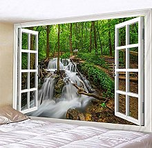 Yqs Tapestry Beautiful Natural Forest Printed