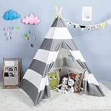 YQZ Kids Teepee Indoor Play Tent - Large Cotton