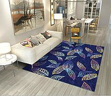 YQZS Carpet Rectangular Children'S Carpet Blue