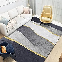 YQZS Designer Bedroom Rug Light luxury wave