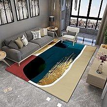 YQZS Designer Bedroom Rug Orange light luxury