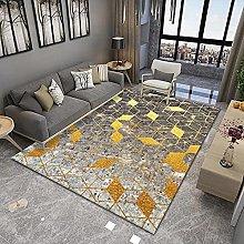 YQZS Modern Simple Bedroom Bedside Carpet Golden
