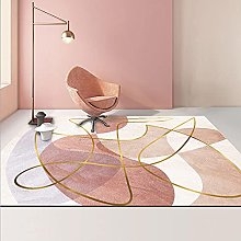 YQZS Ultra Soft Rectangle Area Rugs Pink