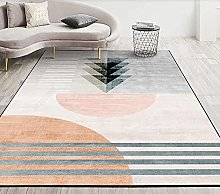 YQZS Ultra Soft Rectangle Area Rugs Pink stripe