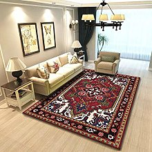 YQZS Ultra Soft Rectangle Area Rugs Red pattern
