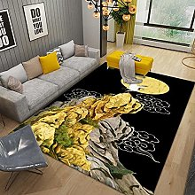 YQZS Ultra Soft Rectangle Area Rugs Stereo Large