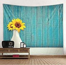 yrfchgj Tapestry Wooden Board Sunflower Vase