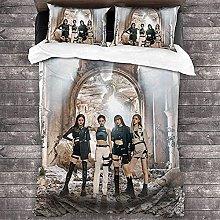YRHAIR Blackpink Duvet Cover Set, Singer Bedding