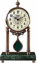 YRHH Pendulum Clock, Silent Table Clock, Metal