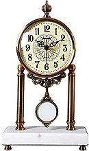 YRHH Pendulum Clock, Silent Table Clock, Metal