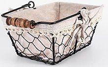 YRHH Portable Storage Basket with Linen Liner for