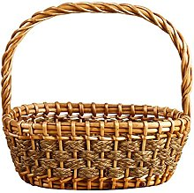 YRHH Wicker Basket Picnic Basket Candy Container