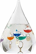 YRW Galileo Thermometer Water Drop Weather