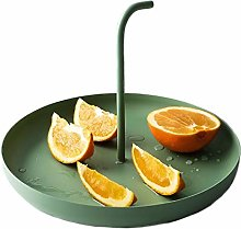 YRYBZ Cake Stand,Round Fruit Bowl Made of Metal