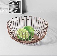 YRYBZ Cake Stand,Round Fruit Bowl Made of Metal