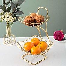 YRYBZ Fruit Basket,Fruit Bowl,Storage Bowl,Chrome