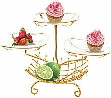 YRYBZ Fruit Bowl,Storage Bowl,Fruit Racks,Copper