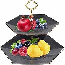 YRYBZ Fruit Racks,2 Tier Metal Fruit Basket,Modern