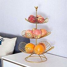 YRYBZ Fruit Racks,3 Tier Metal Fruit Basket,Modern