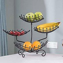 YRYBZ Fruit Racks,4 Tier Metal Fruit Basket,Modern