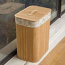 YS&VV Bamboo Large Laundry Basket Folding Storage