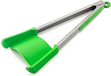 YSJJBTS Food tongs 2 In 1 Silicone Food Tong