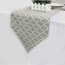 YSJJMES tablecloth Gray Vintage Linen Table Runner