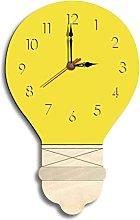 YSMLL Fashion Wall Clock Acrylic Light Bulb