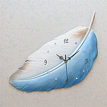 YSMLL Feather Type Home Decor Large Wall Clock