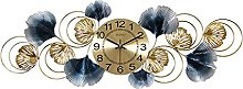 YSMLL Large Wall Clock Golden Living Room
