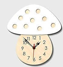 YSMLL Mushroom Wall Clocks Decorative Wall Clocks