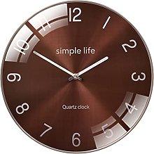 YSMLL Quartz Wall Clock Silent Fashion Living Room