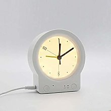 YSMLL Silent Desk Alarm Clock with Desk Lamp for