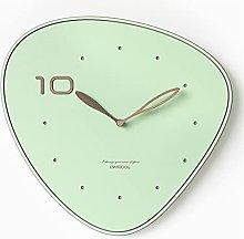 YSMLL Wall Clock Creative Pink Silent Fashion Wall