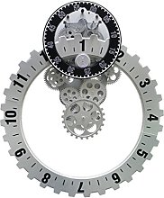 YSNUK Gear Clock Unusual Cogs Moving Gear,