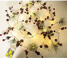 Ysoom Pine Cone Chain 20 LED X Mas Fairy Lights