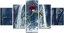 YspgArt66 Print Painting Canvas, 5 Pieces Beauty