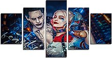 YspgArt66 Print Painting Canvas, 5 Pieces Clown