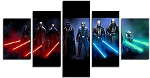 YspgArt66 Print Painting Canvas, 5 Pieces Jedi And