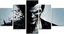 YspgArt66 Print Painting Canvas, 5 Pieces Joker