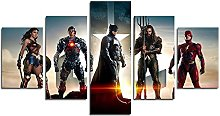 YspgArt66 Print Painting Canvas, 5 Pieces Justice
