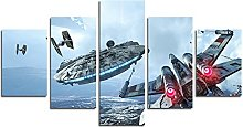 YspgArt66 Print Painting Canvas, 5 Pieces