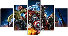 YspgArt66 Print Painting Canvas, 5 Pieces Miracle