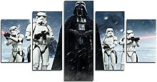 YspgArt66 Print Painting Canvas, 5 Pieces Star